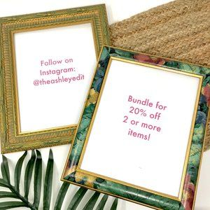 Boho Floral Carved Wooden 8x10 Picture Frame 2 Set